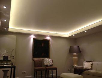 матовые натяжные потолки со светодиодами