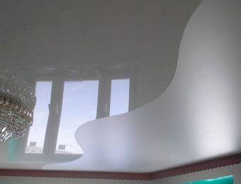 комбинированные натяжные потолки со светодиодами
