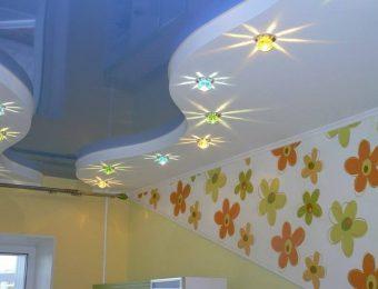 купить натяжные потолки в детской комнате