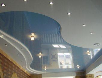 лучшие многоуровневые натяжные потолки