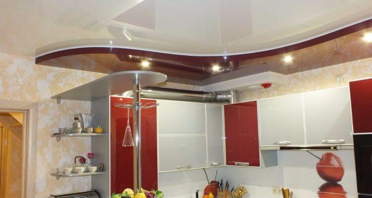 Натяжные потолки на кухне в Москве