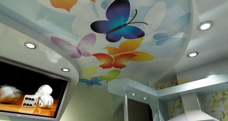 Натяжные потолки с рисунком в Москве