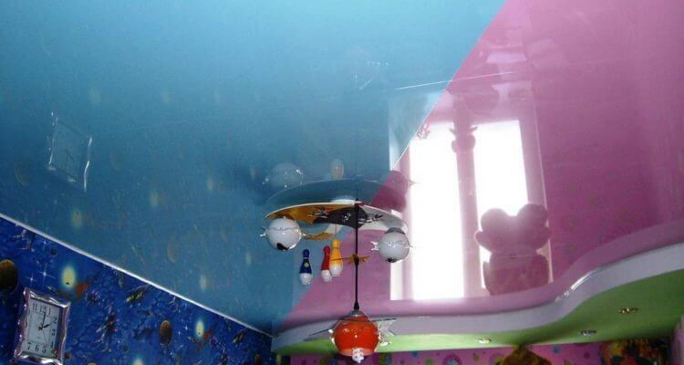 Натяжные потолки в детской комнате в Москве