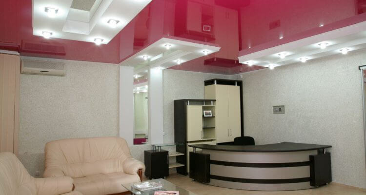 Натяжные потолки в офис в Москве