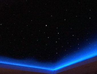 заказать натяжной потолок звездное небо
